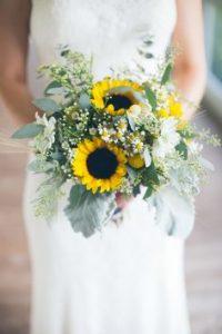 bouquet girasoli e camomilla
