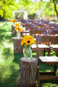 matrimonio giallo decorazione girasoli