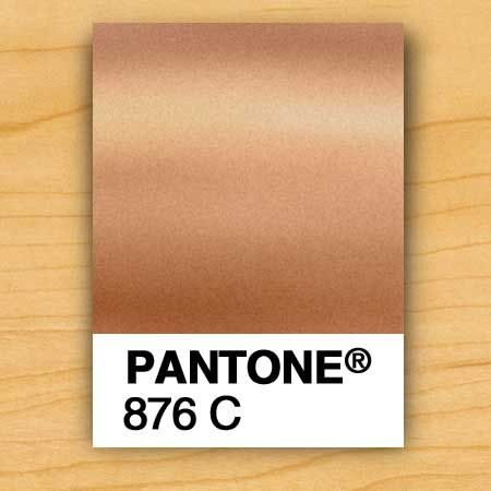 Pantone metallic copper