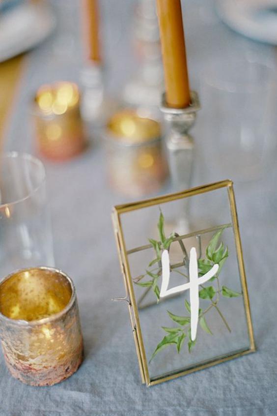 segnaposto matrimonio metallo vetro e foglia