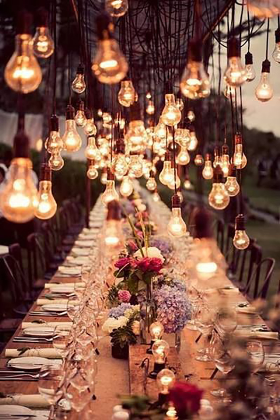 tavola-matrimonio-lampadine