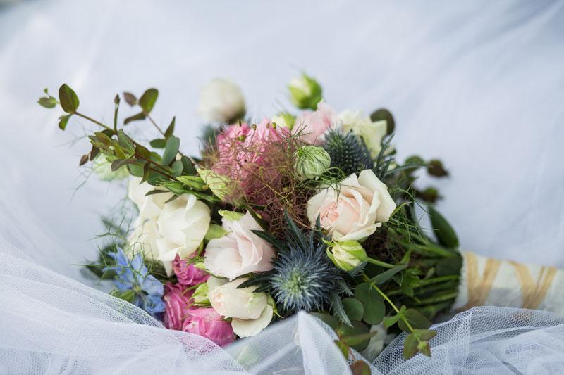 bouquet sposa ispirazione campestre particolare